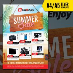Summer Sale flyer Template by doghead