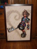 Sora Kingdom Hearts BeadSprite by SerenaAzureth