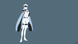 Esdeath (Akame ga Kill) Minimalist Wallpaper by greenmapple17