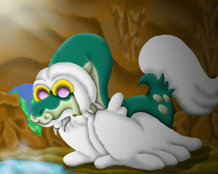 Drampa is so fluffy! by ShedragonArtist