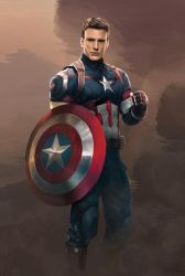 Captain America in Age of Ultron by denkata5698
