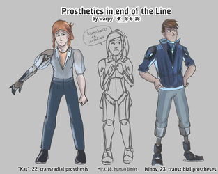Prosthetics in end of the Line by warp-y