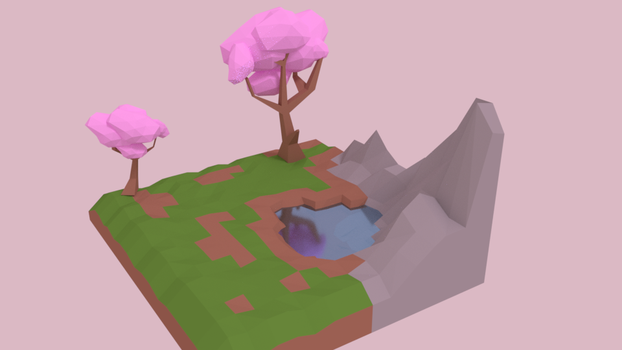First 3D Landscape by synnibear03