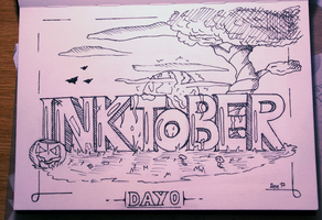 Inktober Day 0: Header by Steve-the-Lucario
