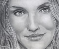 Cameron Diaz by WitchiArt