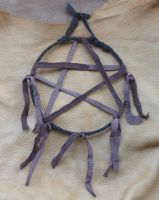 Recycled Leather Pentacle by lupagreenwolf