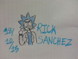 (Inktober Day Eight) Rick Sanchez by Revenir-Ghoul