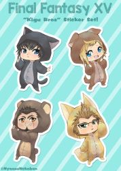 FFXV 'Kigu Bros' Stickers now available! by Nyaasu