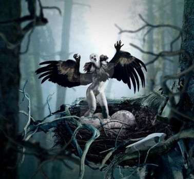 Eclosion Vulture by Leviatha87
