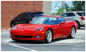 A Sharp Red Late Model Corvette by TheMan268