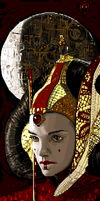 Queen Amidala ANSi by AaronFrick