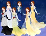 Rose Titanic Dresses (re-edit) by Yandere-ChanKawaii13