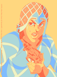 Color Palette Challenge #2: Guido Mista by Miss-Mary-Grace