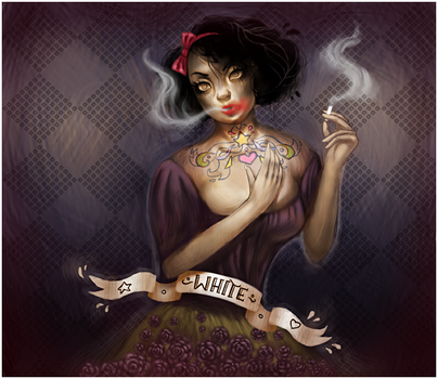 Not so white, Snow White by AdiFish