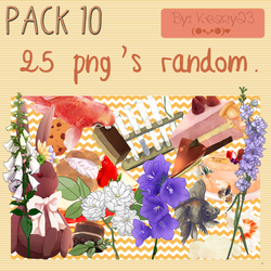 Pack 10 - 25 png's random. by Keary23