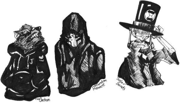 The Critical Three [Ink Sketch] by ALA69