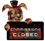 PC - Sammy Commissions Closed Stamp by InkCartoon