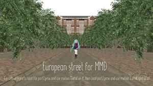 European street [MMD DL] by ketokeas