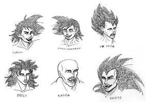 Saiyans 6 by DarkFalcon-Z