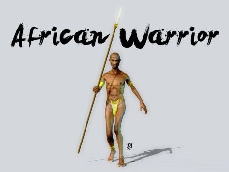 African Warrior by patokali