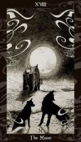 HP Tarot - 18 The Moon by Ellygator