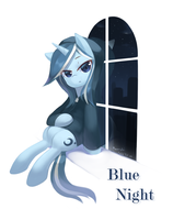 Blue Night by tsurukinoki