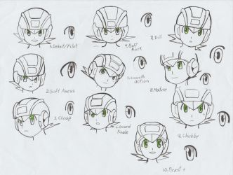 Rockman anime style by ick25