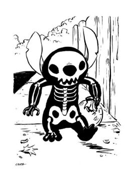 Tupa stitch skeleton by littlereddog