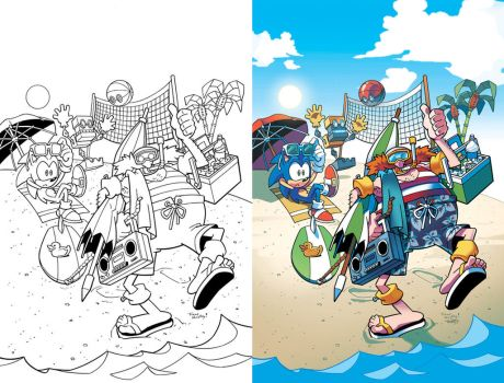 Sonic the Hedgehog 261 Variant Cover by herms85