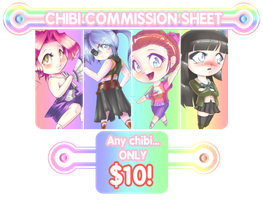Chibi Commission Sheet (Commissions Open) by calbhach