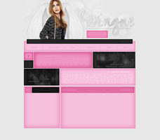 CaraDelevingne.blog.cz Ordered Layout by lenkamason