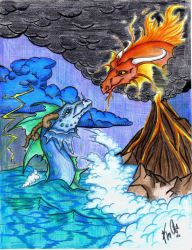 Fire meet Water:ELEMENTS by Allaeysis