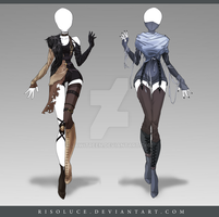 (CLOSED) Adoptable Outfit Auction 145 - 146 by JawitReen