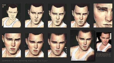 My Skin Practice #1-Nicholas Hoult Process by SxxN