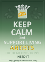 Support living artists. by GeorgeXVII