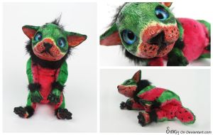 Wibbles the Poseable Watermelon FOR SALE by Sovriin