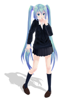|DL SERIES| JK Style Hatsune Miku  (1/?) by typhlosion4ever