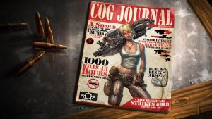 Anya Gears of War mag cover by warballoon