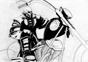 Ghost Rider - Inked by StingRoll
