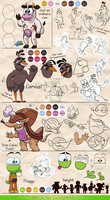 Rabbit and Dino - Reference sheet 2 by MarkProductions