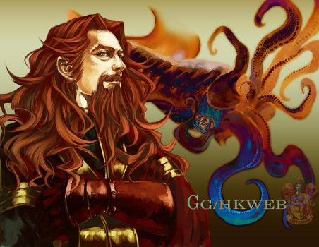 Gryffindor and Squid by Flayu