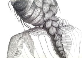Lineart Braid by IsabelleMaria