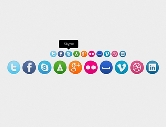 Set of 10 social icons by EnjoyTheFresh