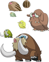 220, 221 and 473 - Swinub Evolutionary Line