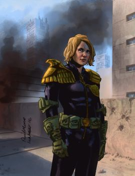 Judge Anderson by Paul Moore - colors by Biram-Ba