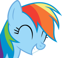 Rainbow Dash agrees with a smile! by CaNoN-lb