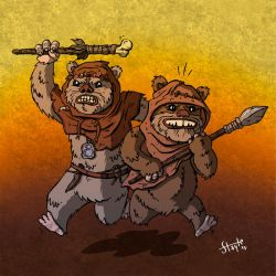 Ewoks by stayte-of-the-art