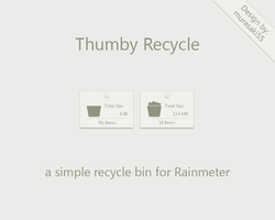 Thumby Recycle Rainmeter by murasaki55