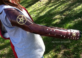 Full Leather Arm Guard - Front by atsed11