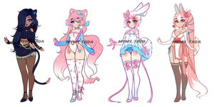 (CLOSED) Adoptables .o34 by Mymy-TaDa